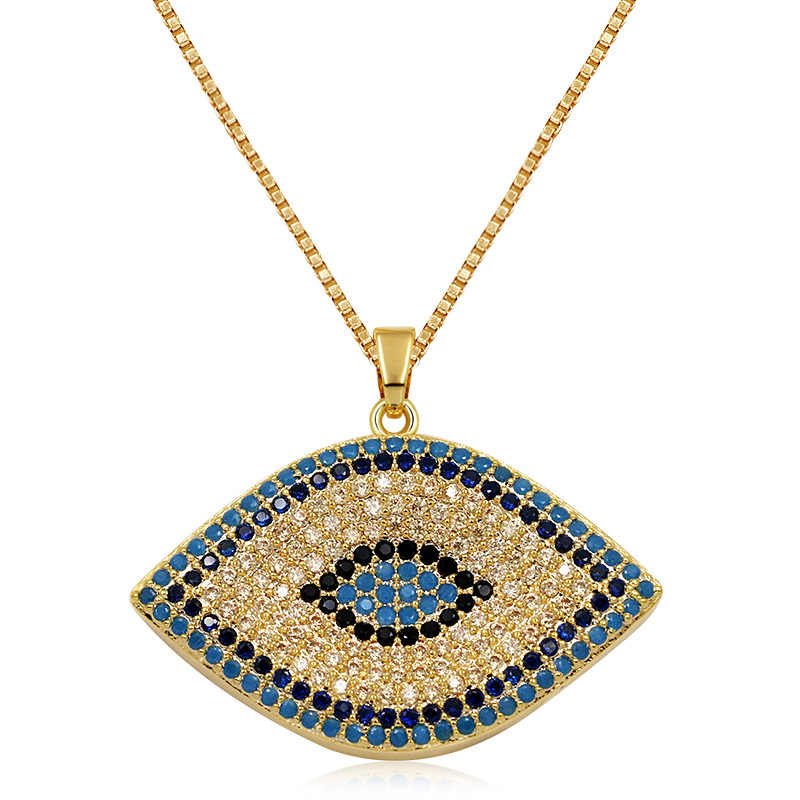 WEIMANJINGDIAN New Arrival Cubic Zirconia Micro Pave Evil Eye Pendants in Rose Gold or Silver Color Plated