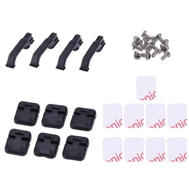 1Set Black Plastic Climbing Car Door Hinges & Door Handles for 1:10 RC Crawler For Traxxas TRX4 Baby Toy Car Props for Kidsr