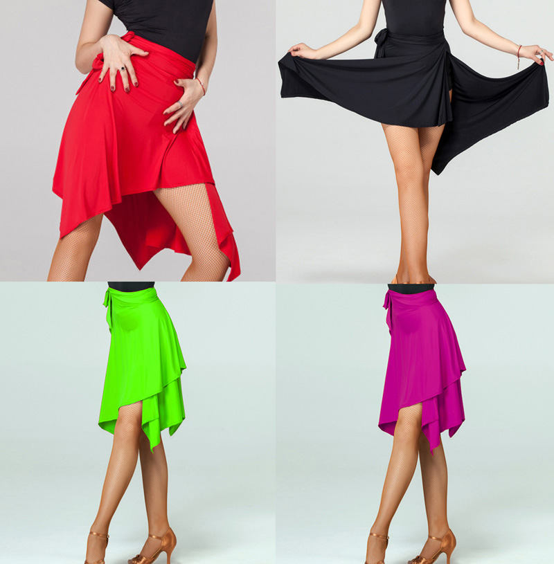 Latin Dance Skirt Adult Professional Dancing Triangle Apron Skirt Women High Quality Rumba Samba Latin Practice Dance Dress