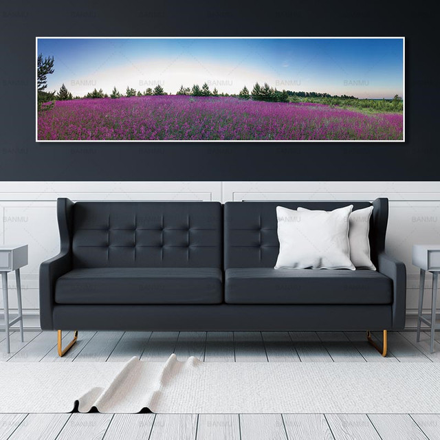 canvas painting wall picture Lavender and posters wall art  picture no frame Painting home decor  wall pictures for living room