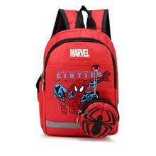 Cute Spiderman Backpack Boys School Bags Zipper Kid Captain