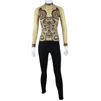 Coolest Brown Royal Ceremoney Anti Pilling Bike Suit For Ladies Long Sleeved Dirt Bike Specialized MTB