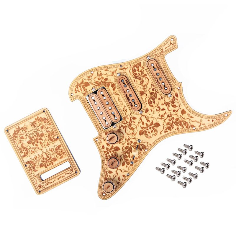 1 Set Guitar Pickguard Prewired SSH Set Alnico V Full Wood Style Refined For ST Right Handed Homeland1 Set Guitar Pickguard Prewired SSH Set Alnico V Full Wood Style Refined For ST Right Handed Homeland