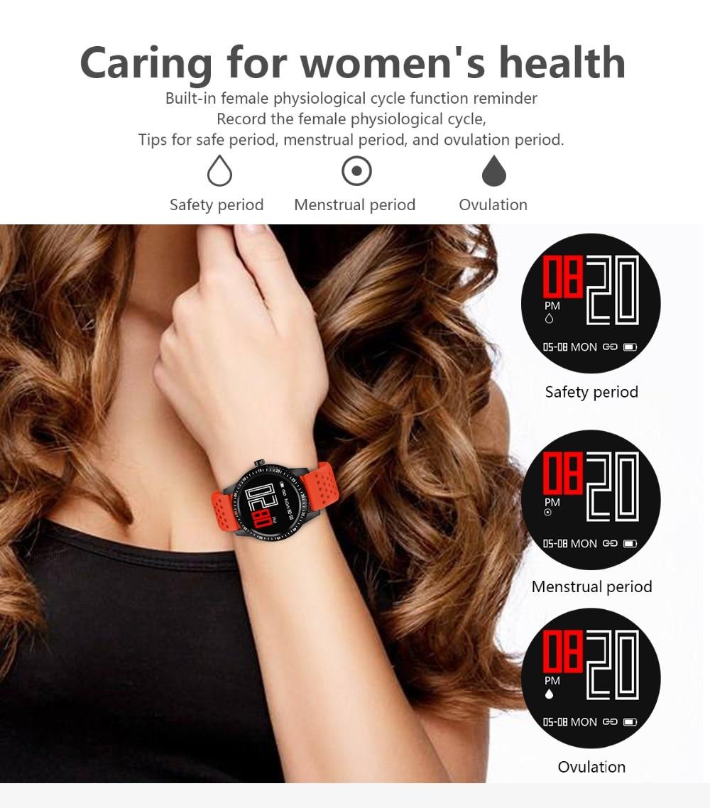 DIGOOR Smart Watch women IP67 waterproof Support Blood pressure  Women Cycle monitoring GPS tracker Heart rate Fitness bracelet Smartwatch (7)