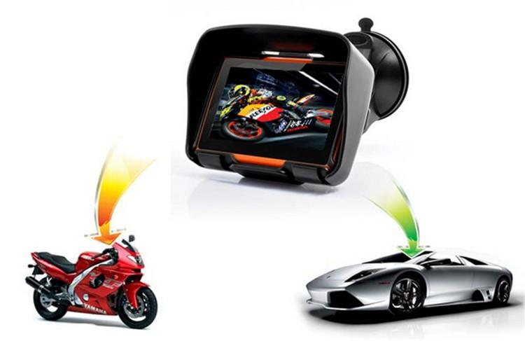 Hot sale 4.3 Inch 8GB 128256 RAM IPX7 Waterproof Moto Bluetooth GPS Navigator for Motorcycle Motorbike Car+Bracket Free Maps (2)