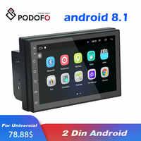 Lecteur DVD de voiture Podofo 7 2Din Android 8.1 pour Nissan Volkswagen TOYOTA Honda KIA Hyundai Lada Renault mazda autoradio universel