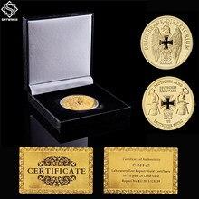 Euro Gold Coin 1889 Deutsche Stolz Reichsbank Direktorium Souvenir Coin W/ Black Luxury Coin Box