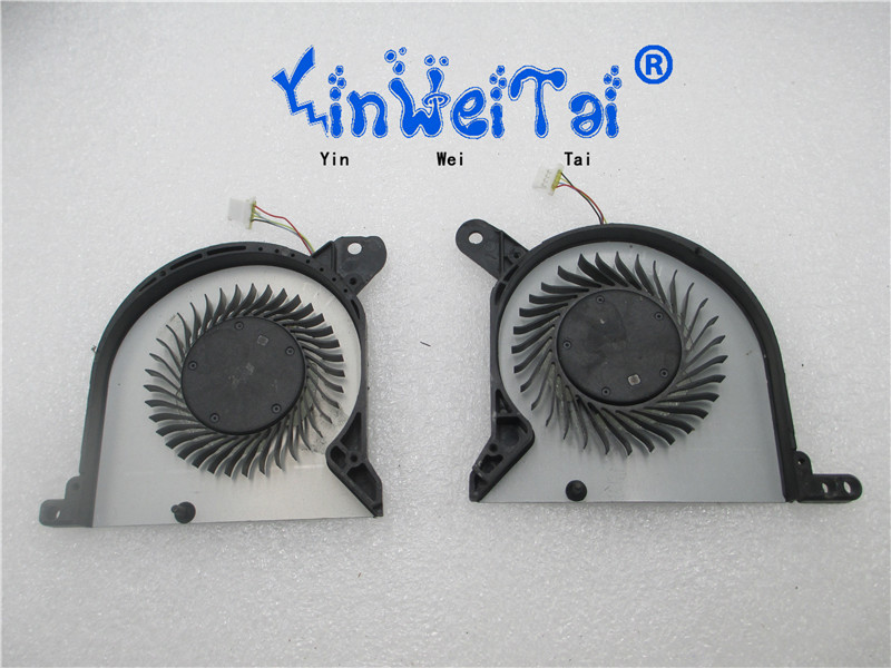 Brand New Original CPU AND GPU fan for forcecon DFS170005030T DFS501105PR0T FFTN FFTM laptop cpu cooling fan cooler