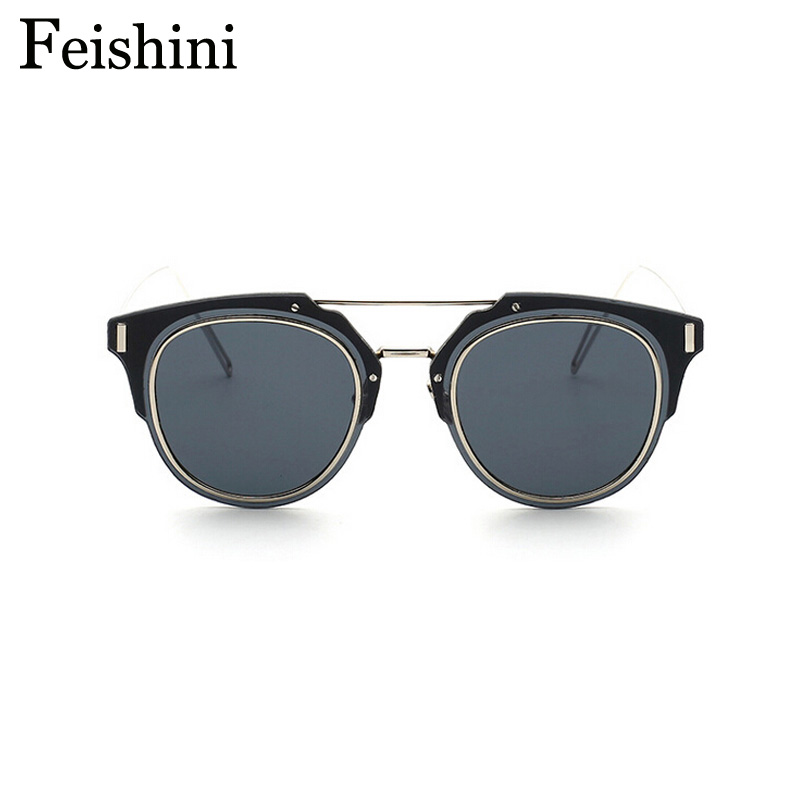 0a8a864673 FEISHINI High Quality Stainless Steel Frame Rectangle Oculos De Sol  Masculino UVA Latest Fashion Personality C Sunglasses Men-in Sunglasses  from Men s ...