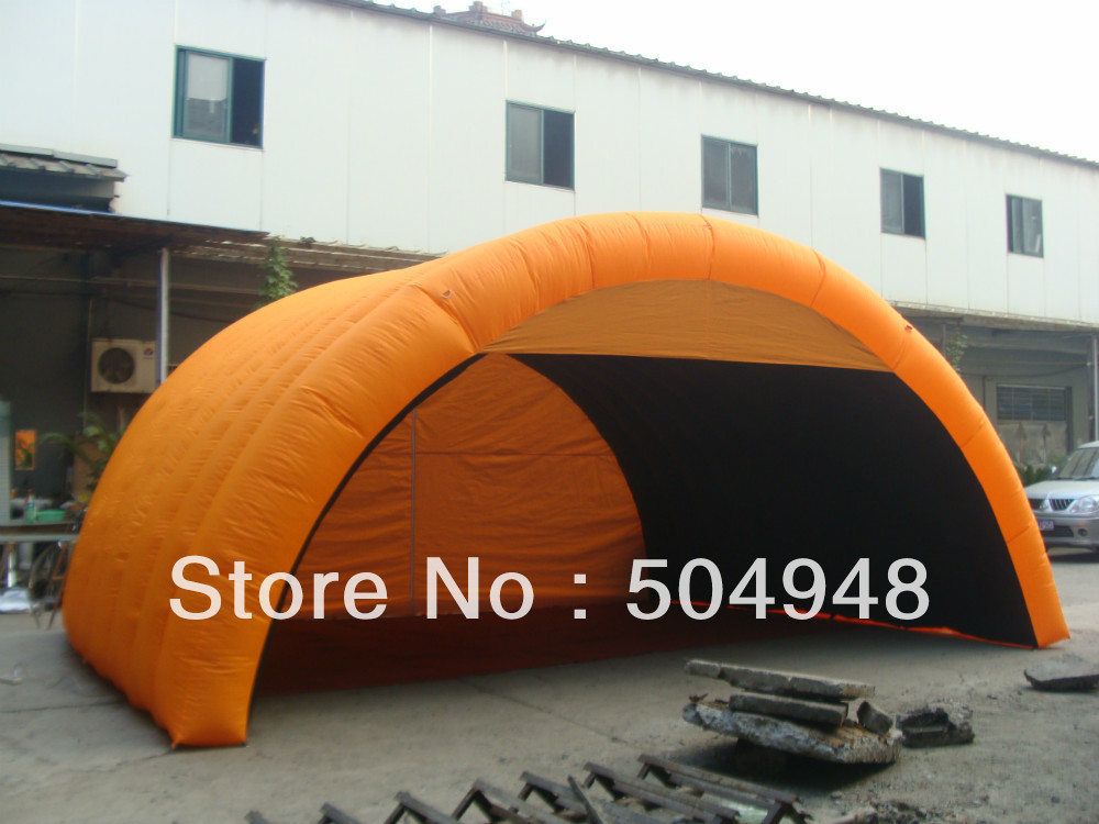 Orange Inflatable Car Cover Tent