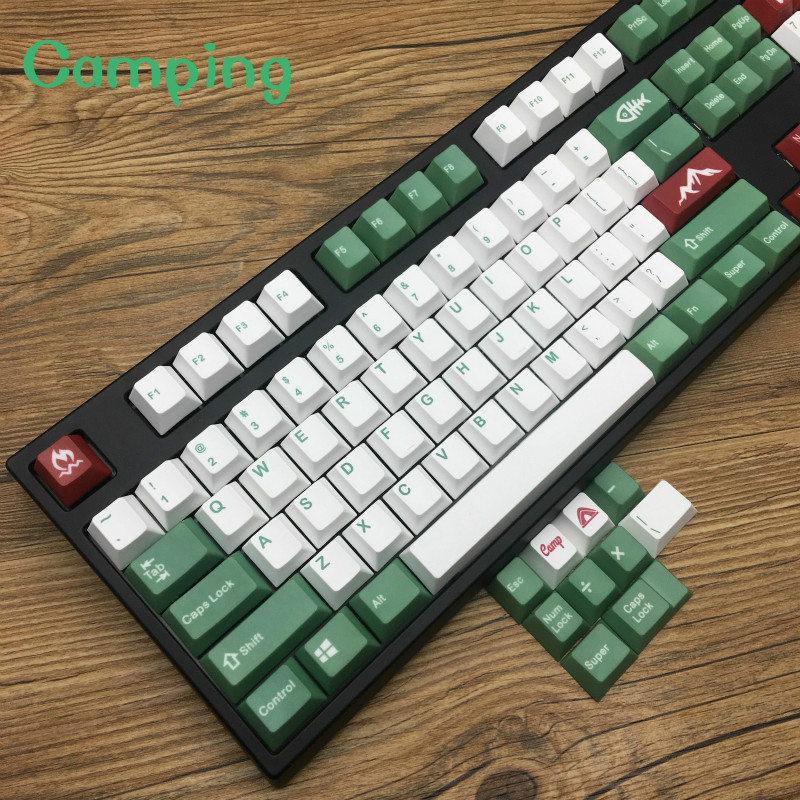 Camping Keycaps 5-surfaces Dye sub Keycaps Cherry Profile PBT Cherry Profile  Dye sub Keycap PbtCamping Keycaps 5-surfaces Dye sub Keycaps Cherry Profile PBT Cherry Profile  Dye sub Keycap Pbt