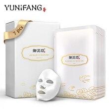 YUNIFANG Cubilose Resilience Lift Silk Mask 30ml*7pcs Lifting Anti aging Anti Wrinkle facial mask
