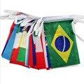 8 # Cadeia nações bandeira pequena bandeira da bandeira 100 países ao redor do mundo, European Cup bar jogos olímpicos bandeiras penduradas
