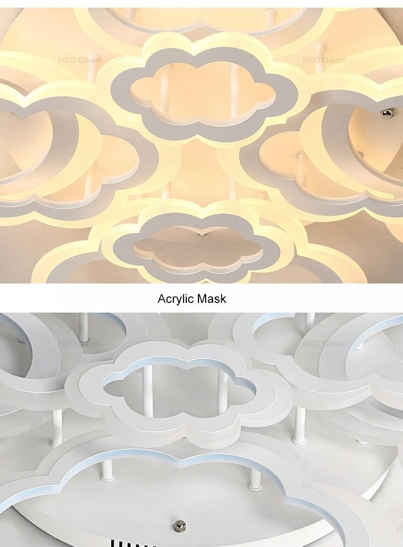 HTB145wnbcrrK1RjSspaq6AREXXaB Clouds Designer Minimalist Modern led ceiling lights for living Study room bedroom AC85-265V modern led ceiling lamp fixtures