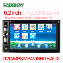 цены Universal 6.2 inch 2 Din Car DVD Player HD Touch Screen GPS Navigation FM Bluetoth Mirror Link Car Multimedia MP5 Player