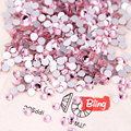 Light Rose / Light Pink Non Hotfix Rhinestones ss3 - ss34 Glass Flatback Rhinestone Nails Glue On For DIY Decorations H0029