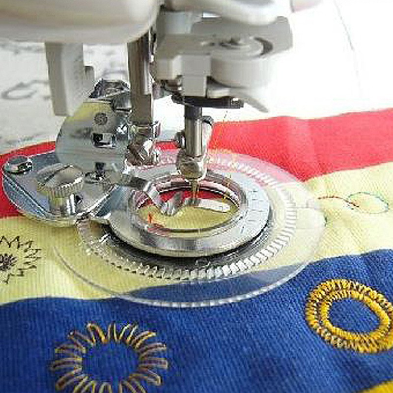 Household Fancy Flower Point Round Point Foot Presser Flower Embroidery Foot For Sewing Machine Fit Sewing Machine