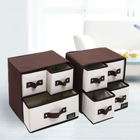 2 Style Underwear Storage Box Oxford Spinning Drawer Foldable Container Locker Cloth Boxes 30x23x30cm Finishing Box Organizador