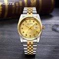 WLISTH Top Brand Luxury Men Quartz Wristwatches Full Stainless Steel Date day Water Resistant Watches for men Montre hommes