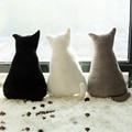 1pc 45cm Super cute soft plush back shadow cat plush toys seat sofa pillow cushion stuffed cartoon pillow birthday gift for girl
