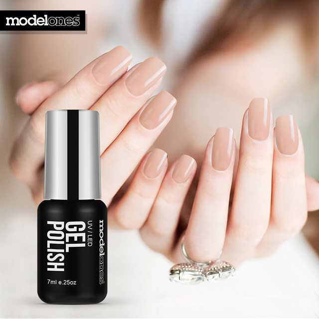 Modelones 7ml Fashion Color Gel Polish Uv Led Long Lasting Nude