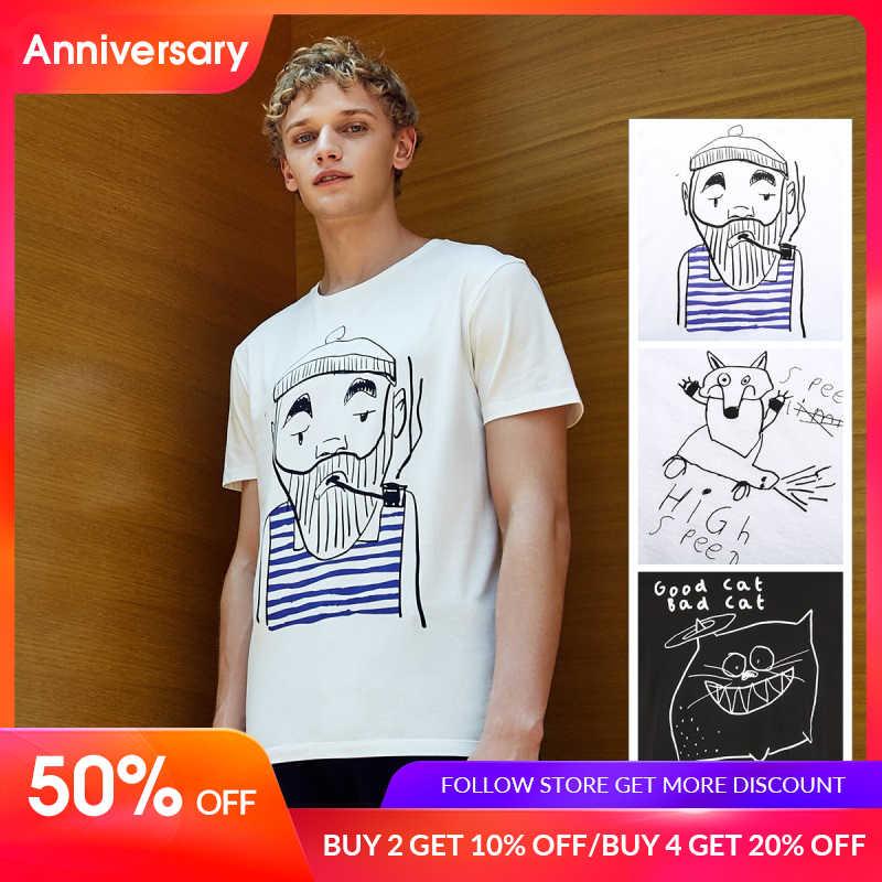 JackJones Мужская футболка с короткими рукавами из 100% хлопка с принтом E | 219101554