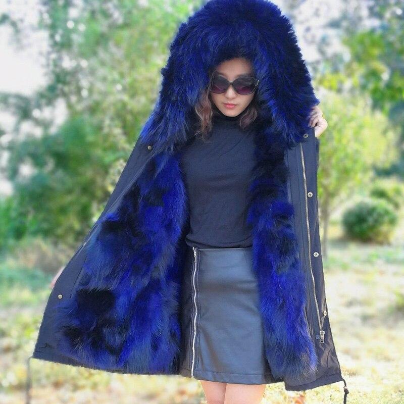 XINYUXIANG 2018 Nuova Vera pelliccia di Volpe parka di inverno delle donne Giacca con cappuccio lungo più il formato Streetwear colore rosa di modo della chiusura lampo rosso cappotti 149BA