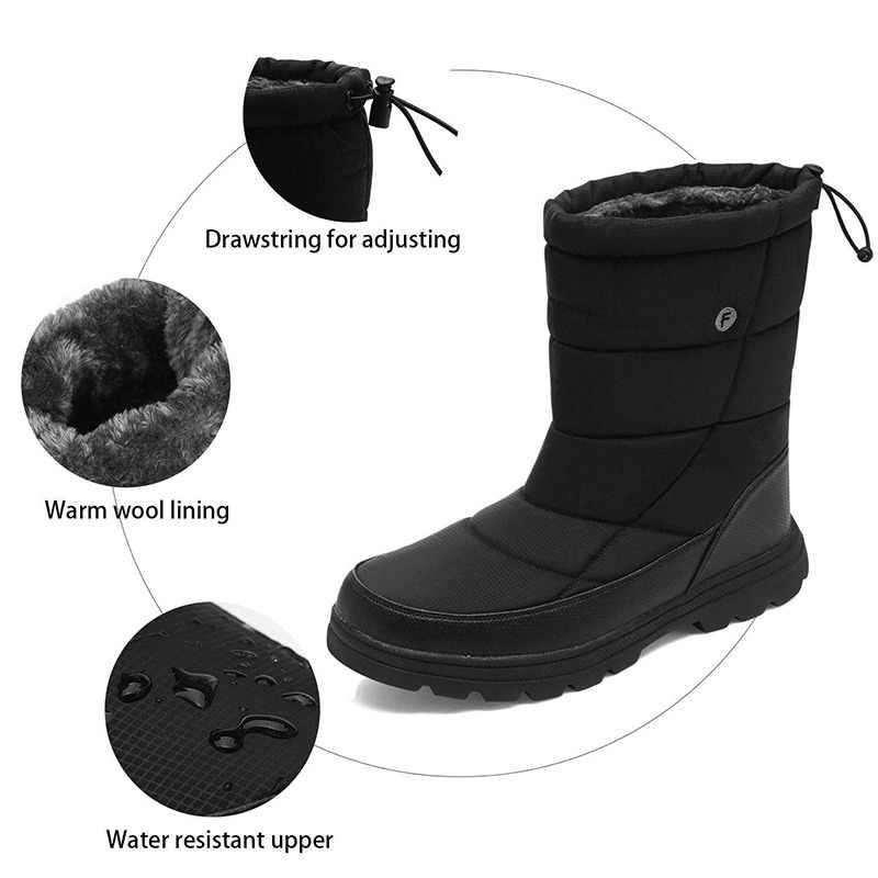 Times Новая Мужская обувь в римском стиле, зимние ботинки, прочные непромокаемые  зимние ботинки 83084408e7c