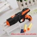La última bala bala suave pistola de juguete pistola de agua de EVA + bomba de agua pistola de doble propósito ráfagas de cristal juguete de disparo