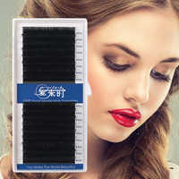 NEWCOME Eyelash Extension 16Rows Individual Eyelashes 0.03-0.25 Eyelash Extension Handmade Faux Mink Eyelash Professional Makeup