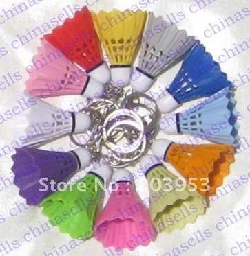 PVC shuttlecock badminton keychain key chain School kindergarten sports gift souvenir