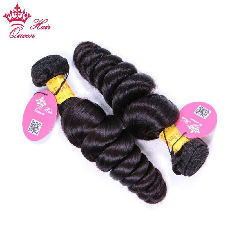 Queen Hair Peruvian Loose Wave Hair Weaving 100% Human Hair Double Machine Weft Free Shipping Remy Hair Bundles 10-30 inch