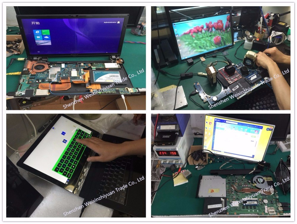 Testing motherboard