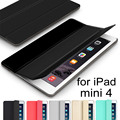 QianNiao PU Leather Case For Apple iPad Mini 4 7.9 inch Smart Cover Wake Up Sleep Stand Magnetic + Back Hard Cover Funda