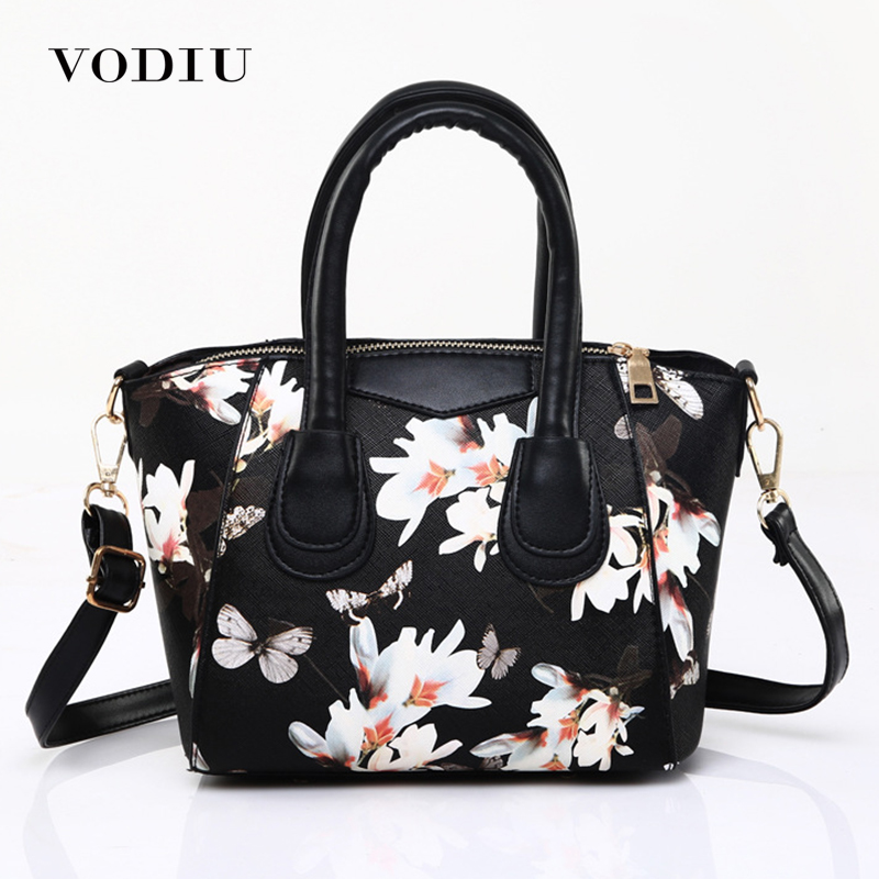 Women Bag Female Handbags Leather Over Shoulder Bag Crossbody 2018 Hot Sale Print Flower Big Fashion Shopper Ladies Tote Bags