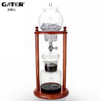 GATER 600ml New Water Drip Coffee Maker Reusable Glass Filter Tools Espresso Coffee Dripper Pot Ice Cold Brew Coffee Machine