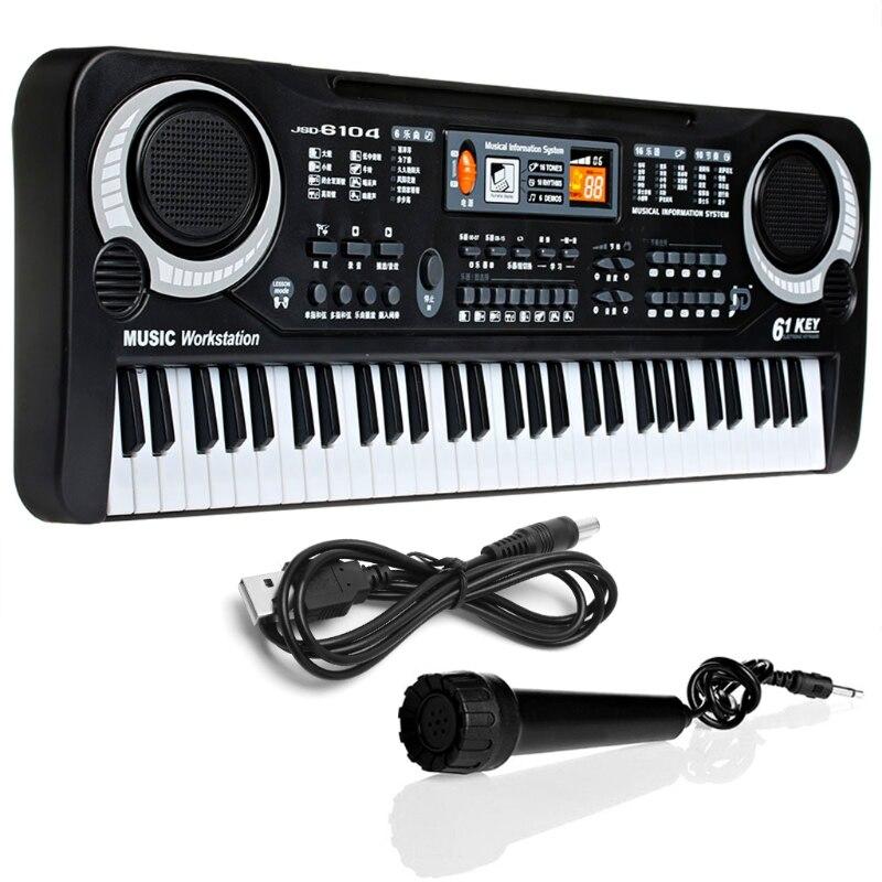 New 61 Keys Digital Music Electronic Keyboard Key Board Gift Electric Piano Gift w15 11 key electronic music box piano toy red 3 x aa