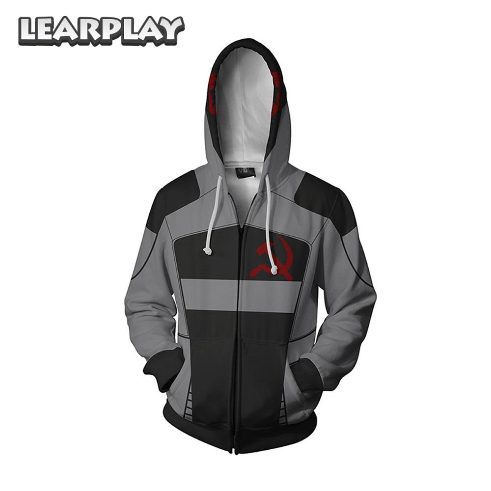 Game Anime Borderland Hoodies Assassin Zero Cosplay Costume 3D Print Sweatshirt Hooded Men Adults Zipper Cartoon Sweatshirt