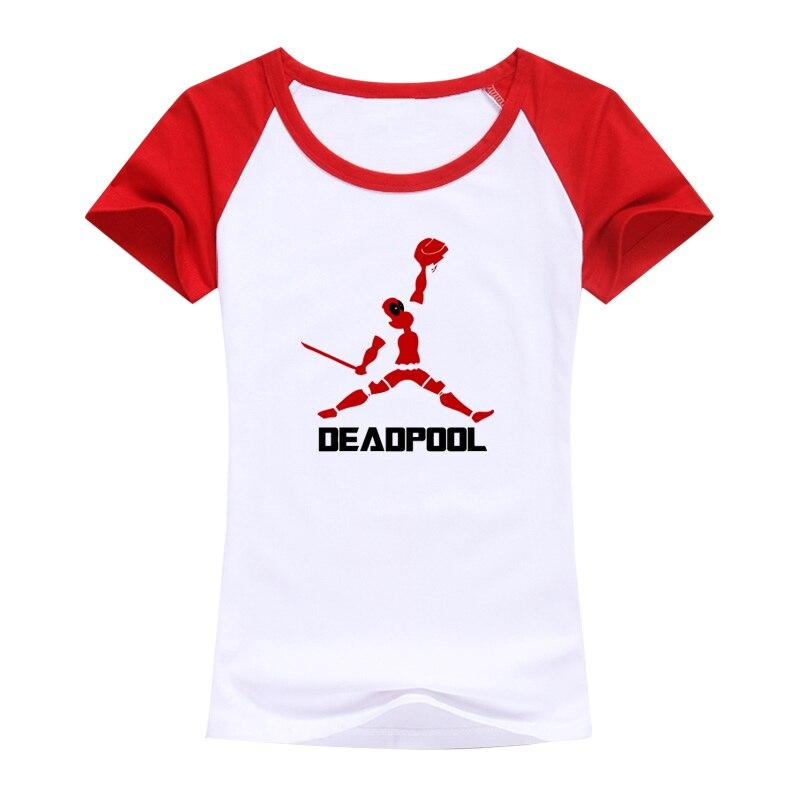 2016 Fashion brand tops tees Deadpool t shirt women image summer women tops cotton Short sleeve t-shirt women funny punk tshirt