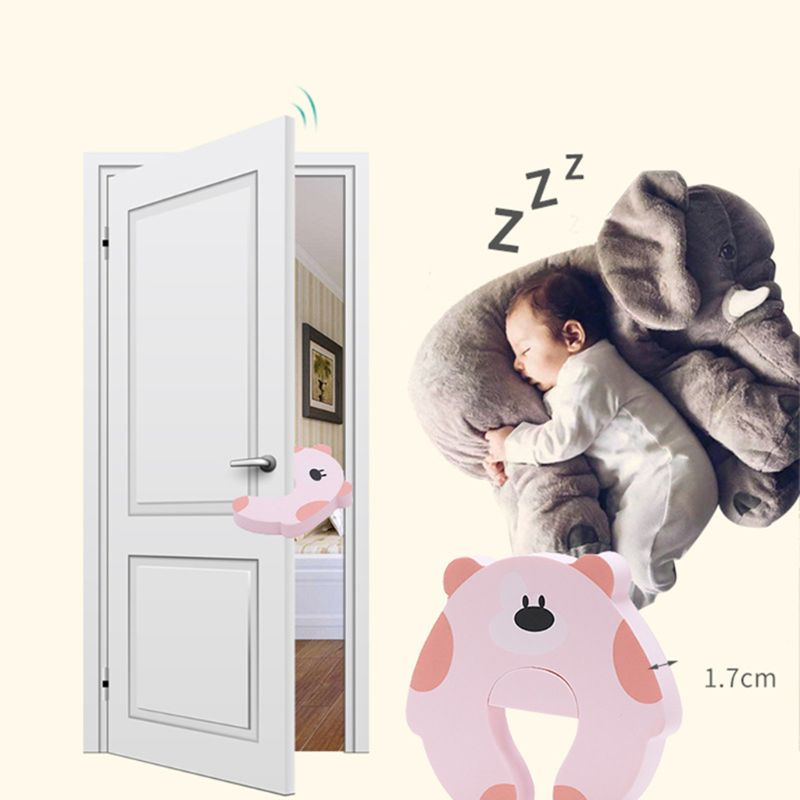 Children Cartoon Safety Protection Door Card Anti-grip Doors Stopper Baby Hands Anti-pinch Can Stored Cards Decoration
