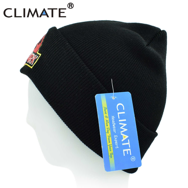 5fffbd9dd23 ... CLIMATE Men Beanie Jurassic Park Winter Hat Jurassic World Knit Cap Hat  Dinosaur Black Beanie Hat