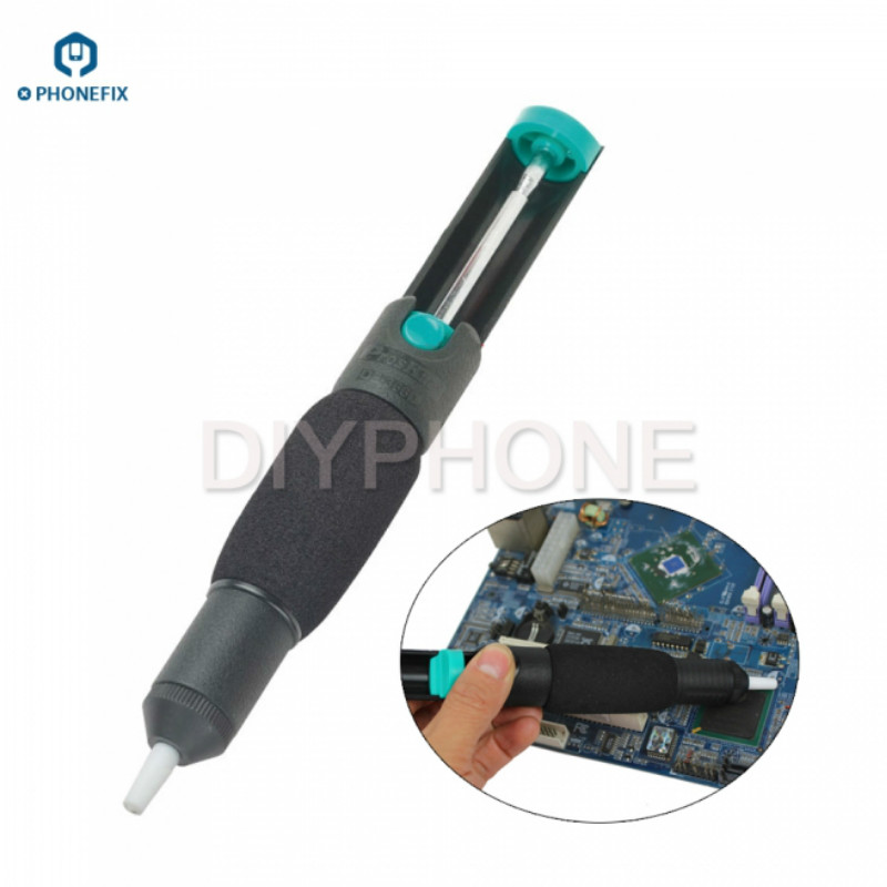 PHONEFIX Vacuum Suction Tin Bar Tool Solder Desoldering Pump Remover Gun Sucker For Mobile Phone Motherboard Electronic Repair
