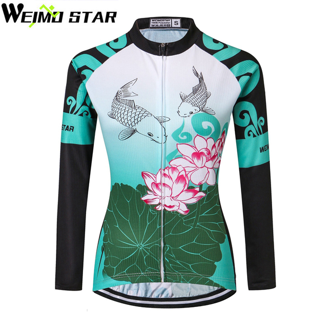 cf09254c0 WEIMOSTAR Pro Team Women s Ropa Ciclismo Long Sleeve Cycling Jacket Riding  MTB Bike Bicycle Jerseys Sports