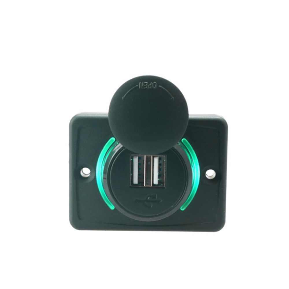 רכב LED צמצם רכב מטען USB הכפול 3.1A 12/24V כוח מתאם אוניברסלי לשקע USB שקע תקע עבור רכב אוטומטי אופנוע אוטובוס