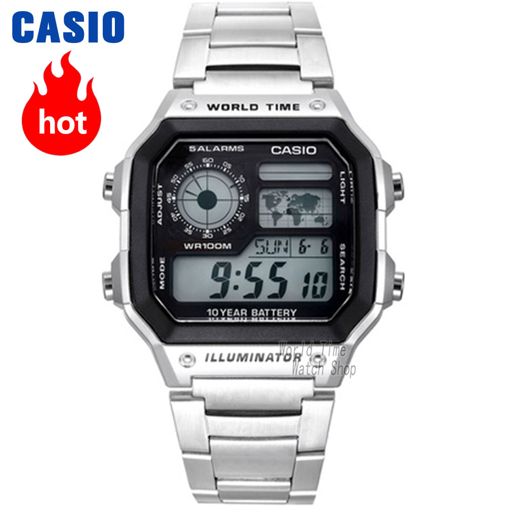 Reloj Casio Reloj de explosión Hombres de la mejor marca LED de lujo militar Reloj digital Reloj deportivo Reloj de cuarzo 100m Reloj impermeable Hombres relogio masculino erkek kol saati montre homme zegarek meski