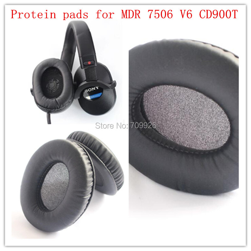 2 pairs Replacement headphone protein ear cushions headset leather pads durable foam for Sony MDR-7506 V6 Headphones
