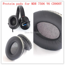 цена на 2 pairs Replacement headphone protein ear cushions headset leather ear pads durable foam pads for Sony MDR-7506 V6 Headphones