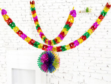 wedding accessory 1PCS 3M*17cm long garland ribbons home decoration stage color bar Christmas tree new