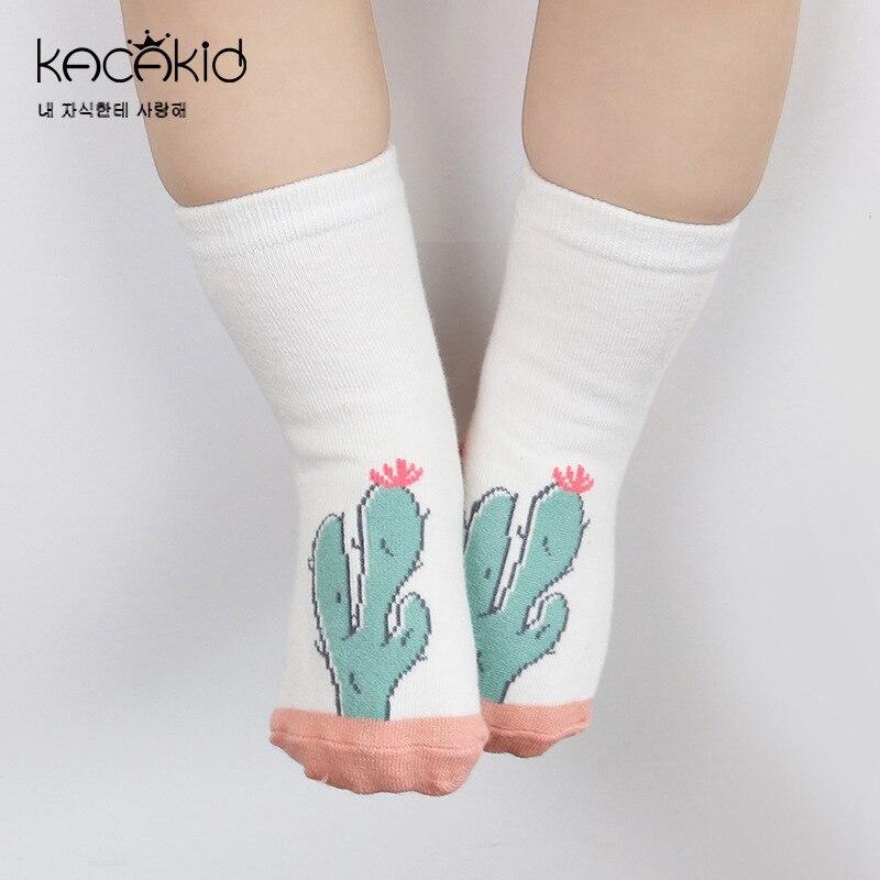 New Newborn Cotton Baby Socks Cute Cartoon Printing Baby Sock Non-Slip Bottom Unisex Boy And Girl Socks