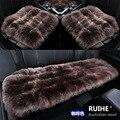 3 pçs/set lã tapetes de carro inverno almofada do assento de carro auto pele capas para assentos de carro, universal pulvinis assento de carro capas para veículo